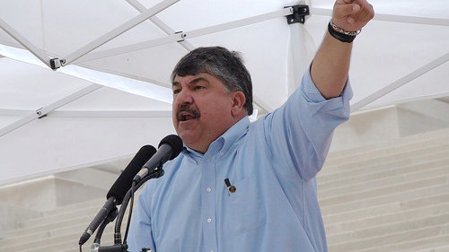 AFL-CIO president: Michael Brown is family (video)