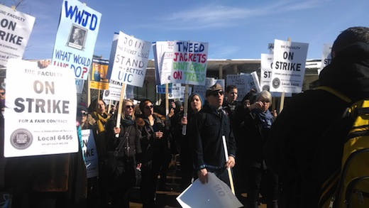 UIC stonewalling forces faculty strike