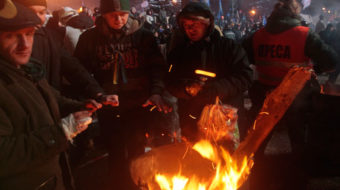 Right wing playing role in Ukraine protests