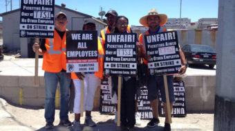 Port truck drivers walk off the job in LA and Long Beach