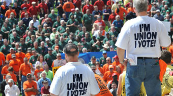 "Union member wants to join the ""workers' club"" in Congress"