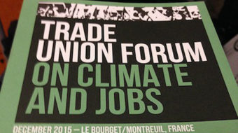 "At #COP21, unions lobby hard for human rights and ""just transition"""