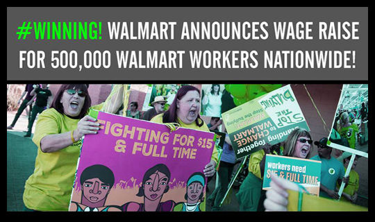 "Walmart's raise for workers ""proof collective action works"""
