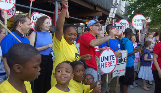 "Congress Hotel strikers on 9th anniversary: ""We're not going anyplace"""