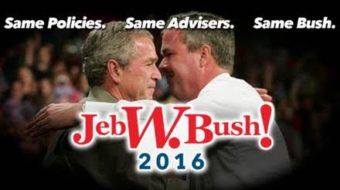 New website spotlights Jeb Bush policies identical to W's