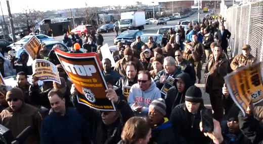 UPS fires 250 workers: class struggle, NY-style (with video)