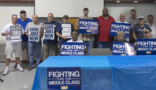 Steelworkers push for jobs plank in Dem platform