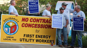 Altoona rally backs locked-out utility workers