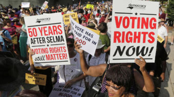 Mass movement the key to voting rights protection