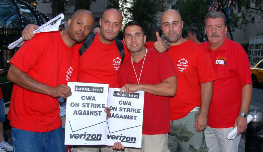 Workers remain solid one year into fight against Verizon
