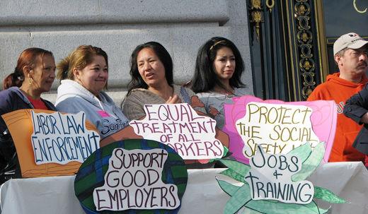 Unions take aim at discrimination against Latinas