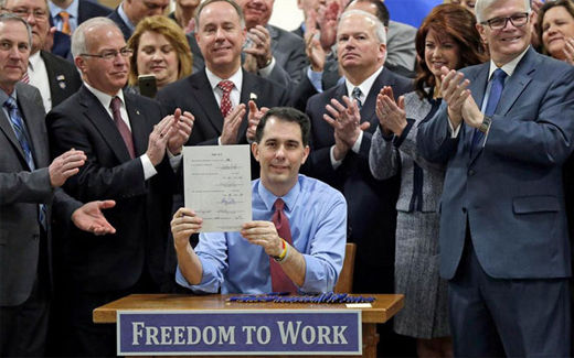 Walker offers rightwing policies tried and tested in his Wisconsin lab