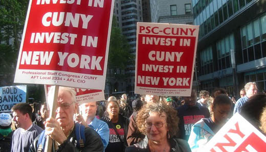 Thousands march on Wall Street for financial reform