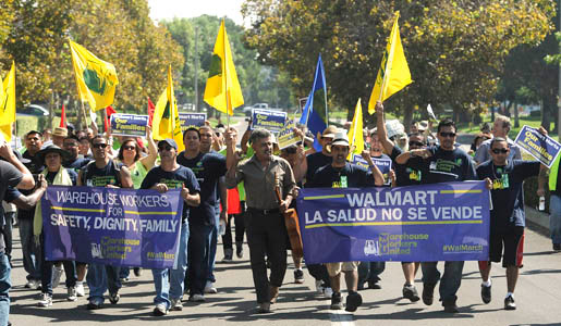 Workers for Walmart subcontractor forced to strike over warehouse conditions