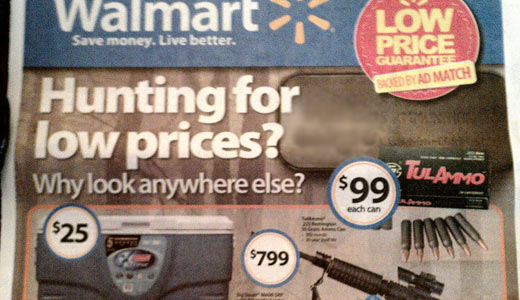 Walmart and gun makers, drivers of the right wing