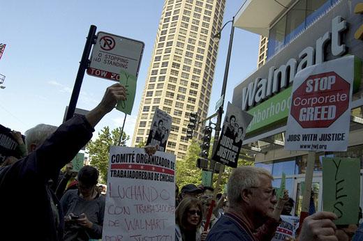 Actions backing Walmart strikers spread coast to coast
