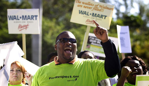 Workers strike as D.C. city council defies Walmart on wages