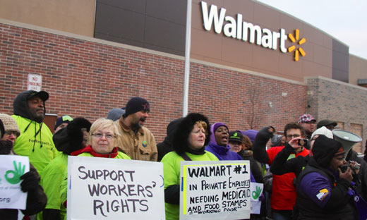 Video: Nationwide actions greet Walmart on Black Friday
