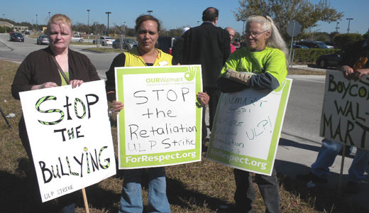 Co-workers support threatened Walmart worker