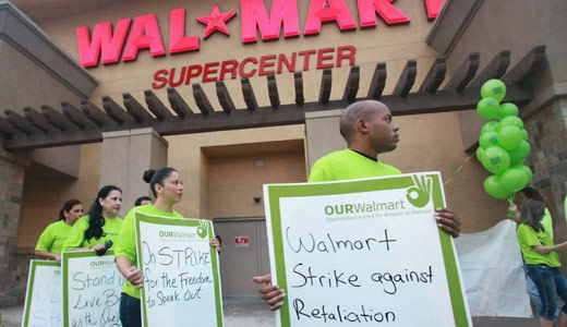 Striking Walmart workers: What do we want? Respect!