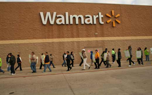 Strike actions hitting Walmart around the country