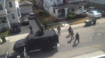 Hunt for bomber locks down Boston area