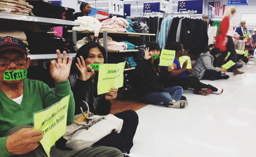 Walmart workers begin first in-store sitdown strike in company history