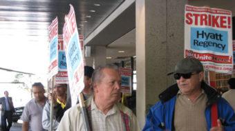 Hyatt workers protest in San Francisco