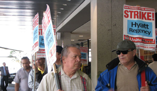 Hyatt workers protest in San Francisco