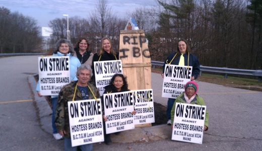 Hostess tries to break strike by shutting 3 bakeries