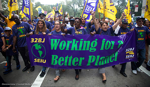 U.S. economic system traps unions in the green vs. blue conflict