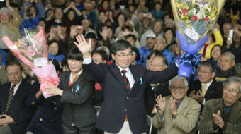 Okinawa mayor appeals to Americans to help stop military base