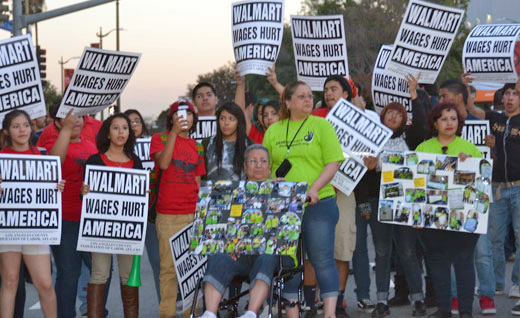 "Workers plan nationwide strikes against ""bully"" Walmart"