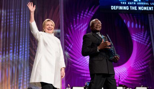 Congressional Black Caucus gives Hillary Clinton the Phoenix award