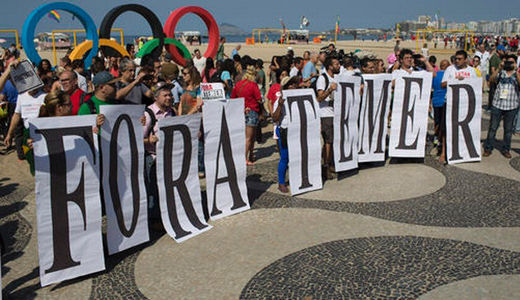 Brazil's coup government represses Olympics protests, attempts pension and health cuts