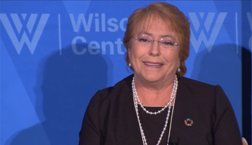 Chilean president Bachelet campaigns for 'transformative role of women'