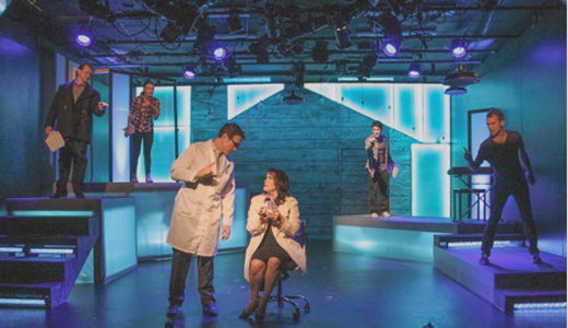 """Next to Normal,"" brave, hyperactive musical on a small stage"