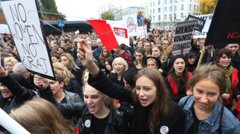 Women in Poland protest proposal for abortion ban