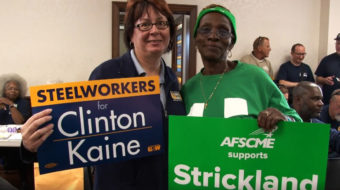 Unions push for big turnout in Ohio