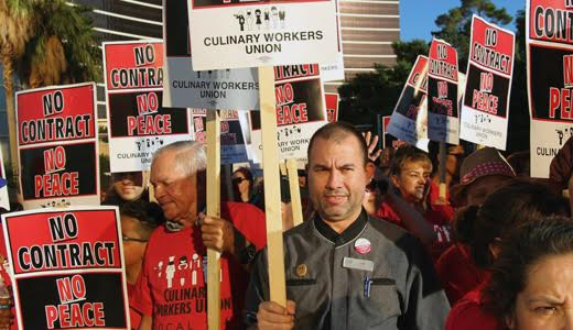 Big Las Vegas Culinary Workers Local issues travel alert about Trump hotel there