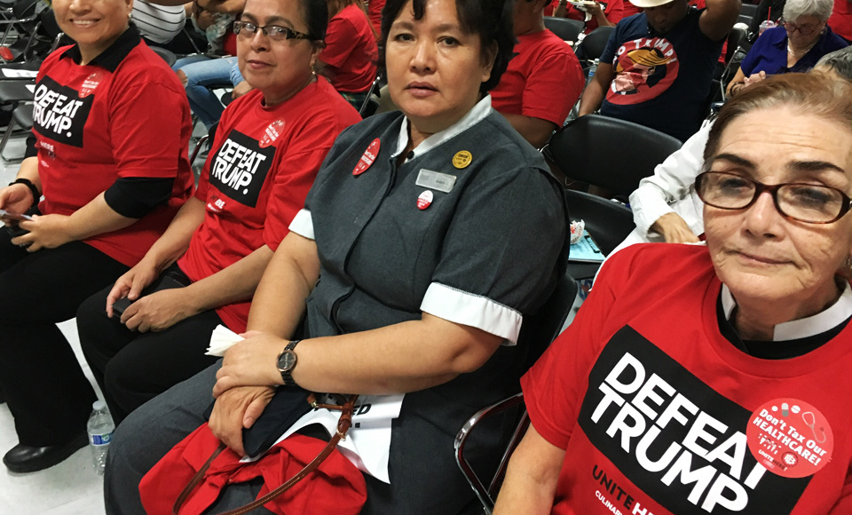 Vegas housekeepers say Trump has history of flouting elections