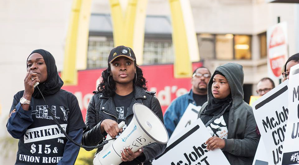 "Fight for $15: ""McDonald's, take sexual harassment off the menu"""