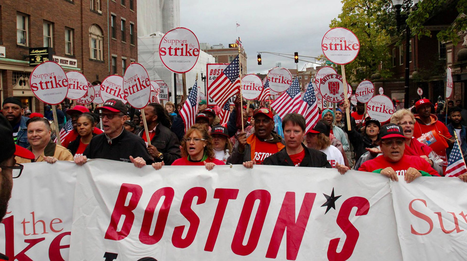 Harvard dining hall workers' strike gains momentum – People's World