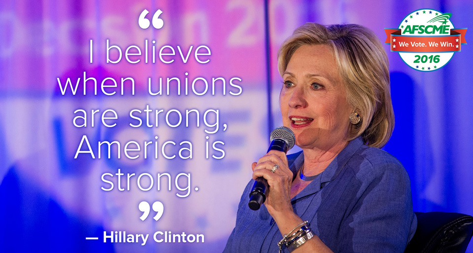 In the homestretch, AFL-CIO goes all out for Clinton