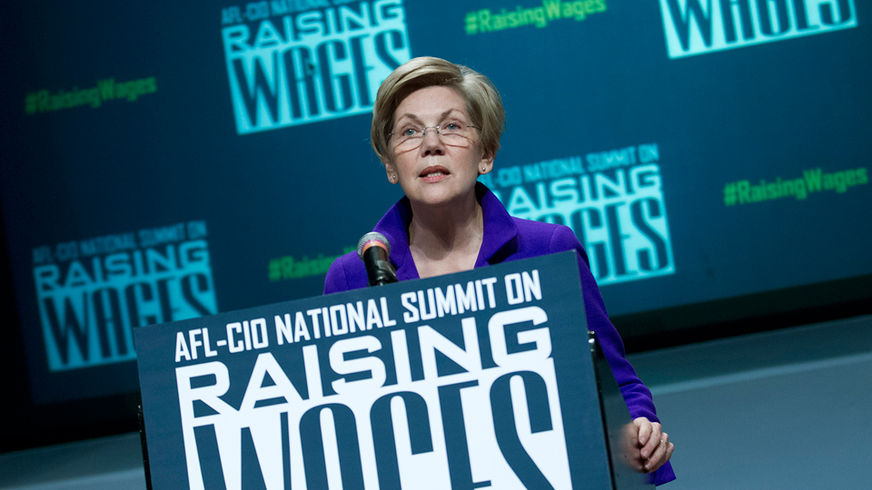 "At AFL-CIO meeting Elizabeth Warren warns Trump: ""We'll fight you"""