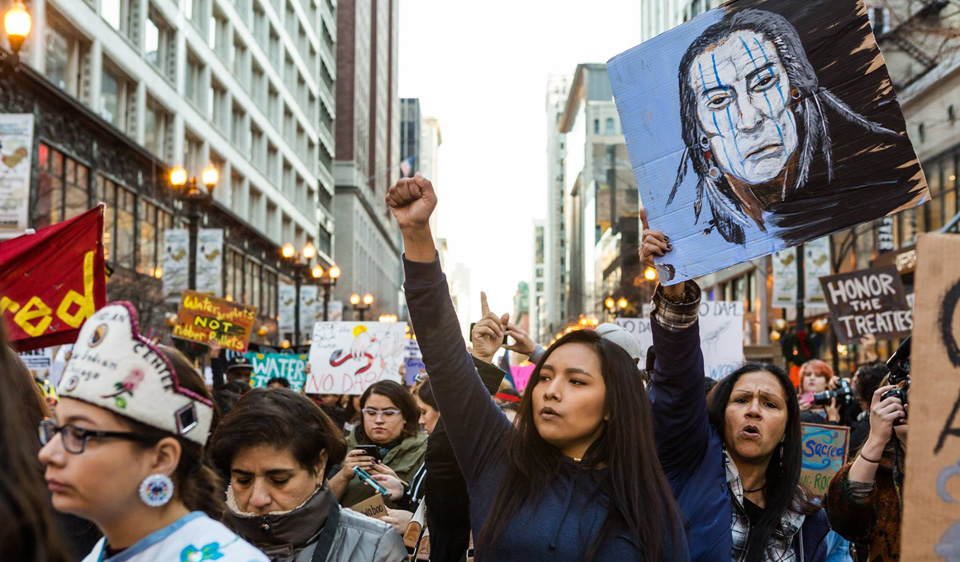 Chicago's Native Americans, allies say #NoDAPL