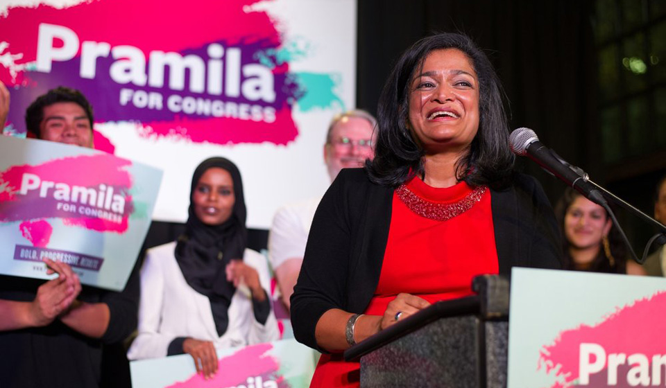 Washington state voters approve wage hike, send Jayapal to Congress