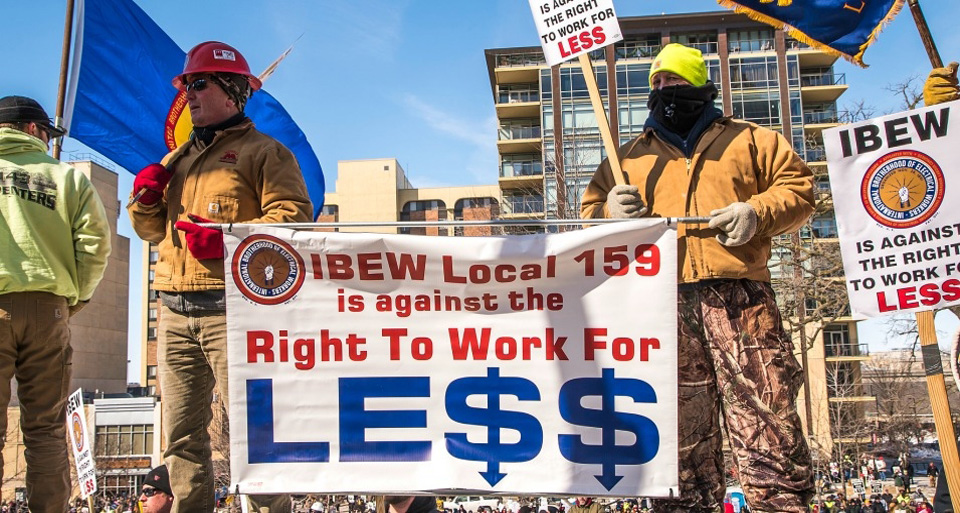 "Labor opposing ""Right to Work"" amendment in Virginia"