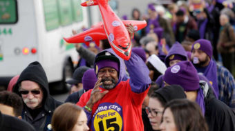 Hundreds of thousands of workers walk out for $15 and a union
