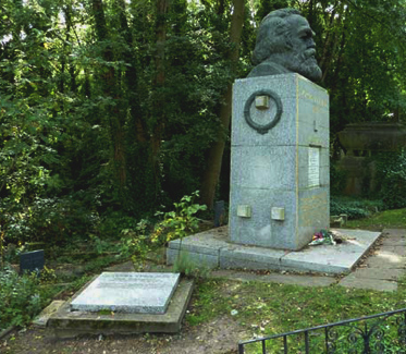 Claudia Jones' final resting place is just to the left of Karl Marx in London's Highgate Cemetery. | Cumberbatch.org
